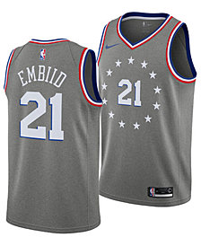 Nike Joel Embiid Philadelphia 76ers City Edition Swingman Jersey 2018, Big Boys (8-20)