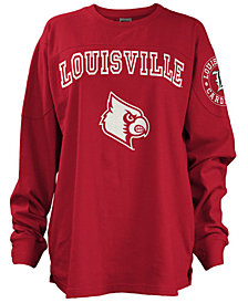 Pressbox Women's Louisville Cardinals Long Sleeve Boyfriend T-Shirt