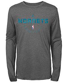 Nike Charlotte Hornets Long Sleeve Practice T-Shirt, Big Boys (8-20)