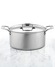 D5 Brushed Stainless Steel 8 Qt. Covered Stockpot