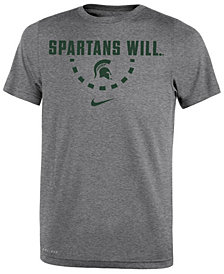 Nike Michigan State Spartans Basketball Legend Logo T-Shirt 2018, Big Boys (8-20)