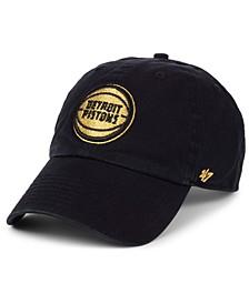 Detroit Pistons Met Gold CLEAN UP Cap
