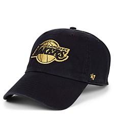 Los Angeles Lakers Met Gold CLEAN UP Cap