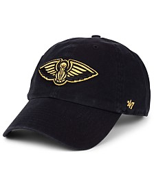 '47 Brand New Orleans Pelicans Met Gold CLEAN UP Cap