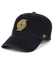 Portland Trail Blazers Met Gold CLEAN UP Cap