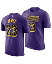 225fdc71d35 Nike Men's LeBron James Los Angeles Lakers City Player T-Shirt 2018