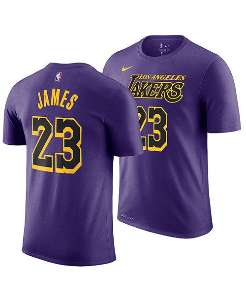 outlet store 6b55c 08da7 Men's LeBron James Los Angeles Lakers City Player T-Shirt 2018