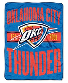 Oklahoma City Thunder Micro Raschel Clear Out Throw Blanket