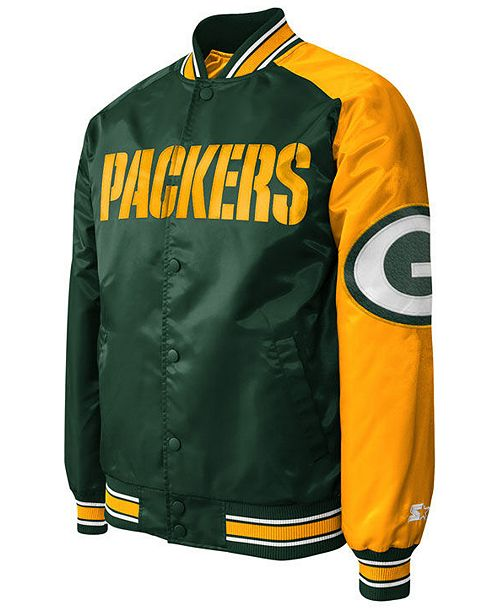 the latest dd617 c7ff0 Men's Green Bay Packers Starter Dugout Playoff Satin Jacket