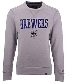 New Era Men's Milwaukee Brewers Premium Crew Sweatshirt