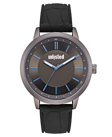 Unlisted Men's Black Silicone Sport Watch, 44MM
