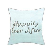 """Edie@Home Celebrations Pillow Beaded """"Happily Ever After"""""""