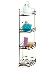Bath Bliss 4 Tier Corner Bath Shelf in Curls Design