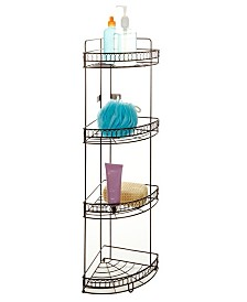 Bath Bliss 4 Tier Corner Bath Shelf in Curls Design