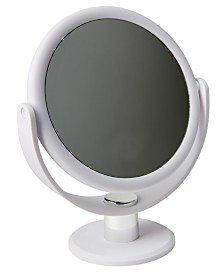 """Home Details Dual Sided 10X Magnification 7"""" Rubberized Vanity Mirror"""