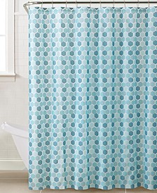 Hexagon Design Shower Curtain