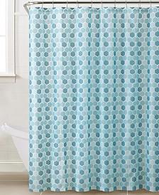 Bath Bliss Hexagon Design Shower Curtain