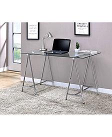 Becca Modern Glass Desk