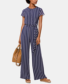 MICHAEL Michael Kors Striped Tie-Waist Jumpsuit, Regular & Petite