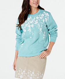 Karen Scott Floral-Print Sweatshirt, Created for Macy's