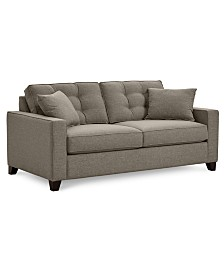 "Clarke II 75"" Fabric Apartment  Sofa, Created for Macy's"