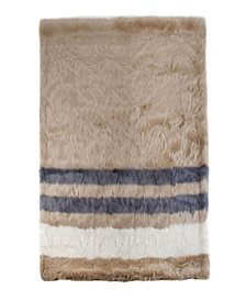 Sleeping Partners Striped Faux Fur Throw