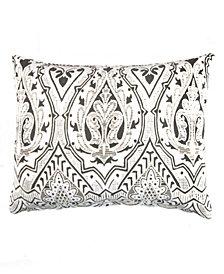 Caskata Cotton Velvet Lumbar Pillow With Feather and Down Insert