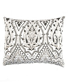 Caskata Cotton Velvet Lumbar Pillow With Feather and Down Insert