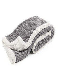 Tadpoles Popcorn Plush and Sherpa Ultra-Soft Baby Blanket