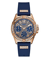 Guess Women s Blue Silicone Glitz Watch 40MM, Created for Macy s 4a51b2818362