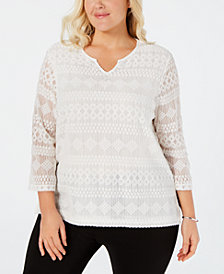 Alfred Dunner Tops Shop For And Buy Alfred Dunner Tops Online Macy S