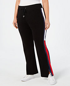 Tommy Hilfiger Plus Size Flag-Logo Track Pants