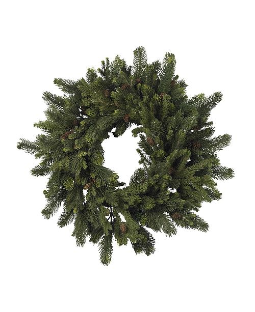 """Nearly Natural 30"""" Pine and Pinecone Wreath"""
