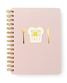 """Resting Brunch Face"" Spiral Notebook"