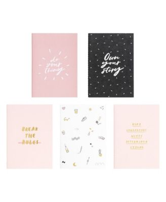 A6 Essentials Notebooks, Set of 5