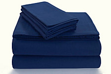 Tribeca Living Flannel 170-GSM Cotton Solid Extra Deep Pocket Queen Sheet Set