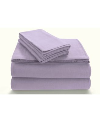 Flannel 170-GSM Cotton Solid Extra Deep Pocket Twin Sheet Set