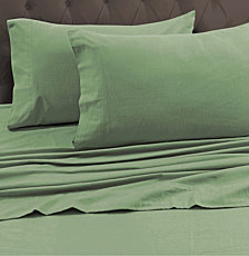Tribeca Living 170-GSM Heavyweight Solid Flannel Queen Fitted Sheet