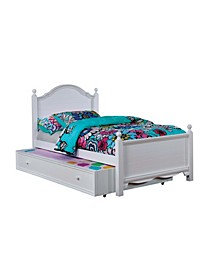 Poppy Transitional Twin Bed with Trundle