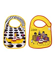 2- Pack of The Beatles Sea of Holes and Yellow Submarine Extra Soft Bibs