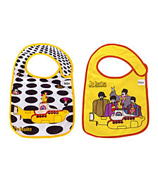 2- Pack of The Beatles Sea of Holes and Yellow Submarine Extra Soft Bibs by Daphyl's