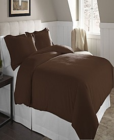 Superior Weight Cotton Flannel Duvet Set - King/Cal King