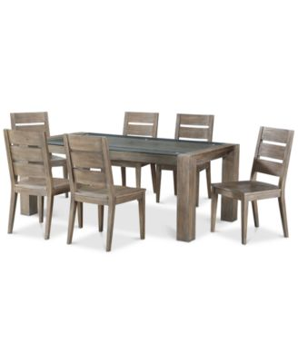 Sava Dining Furniture, 7-Pc. Set (Table & 6 Side Chairs), Created for Macy's