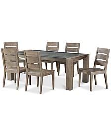 Closeout! Sava Dining 7-Pc. Set (Table & 6 Side Chairs), Created for Macy's