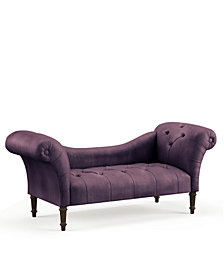 Logan Tufted Chaise Lounge, Quick Ship