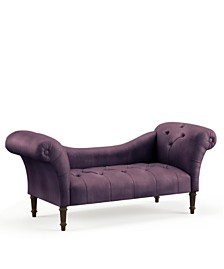 Skylands Collection Logan Tufted Chaise Lounge, Quick Ship, Created for Macy's