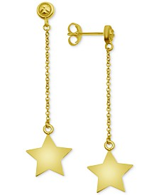 Essentials Polished Star Drop Earrings in Gold-Plate