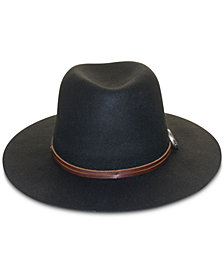 Frye Wool Cadet Table-Top Brim Hat