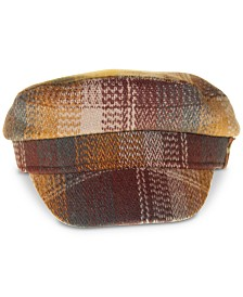 Frye Plaid Newsboy Cap
