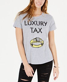 Love Tribe by Hybrid Juniors' Luxury Tax Graphic T-Shirt